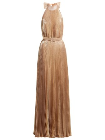 Luisa Beccaria- Pleated halterneck gown
