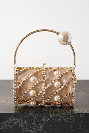 Gold Brigitta embellished gold-tone tote | Rosantica | NET-A-PORTER