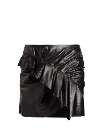 Zeist ruffled faux leather mini skirt | Isabel Marant Étoile | MATCHESFASHION.COM US