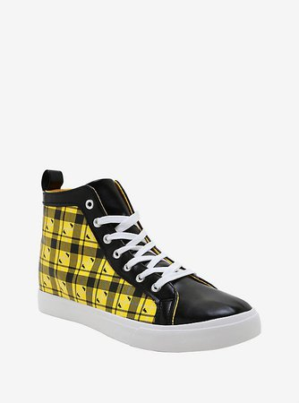Harry Potter Hufflepuff Plaid Hi-Top Sneakers