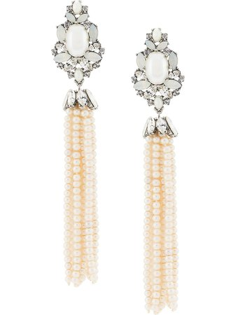 Marchesa, Drama Pearl Tassel Earrings