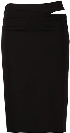 Cut-Detail Midi Skirt