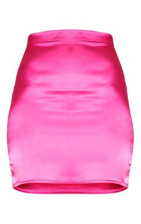 Pink Satin High Waisted Mini Skirt | Skirts | PrettyLittleThing