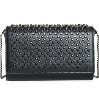 Christian Louboutin Paloma Spike Leather Clutch | Nordstrom