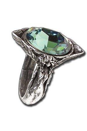 Absinthe Fairy Spirit Crystal Ring by Alchemy Gothic
