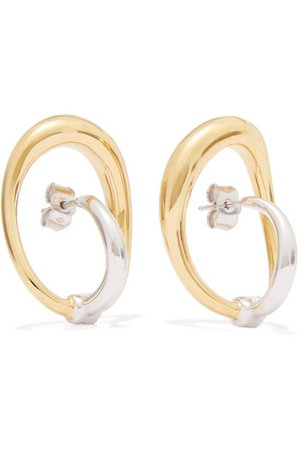 Charlotte Chesnais | Turtle gold vermeil and silver earrings | NET-A-PORTER.COM