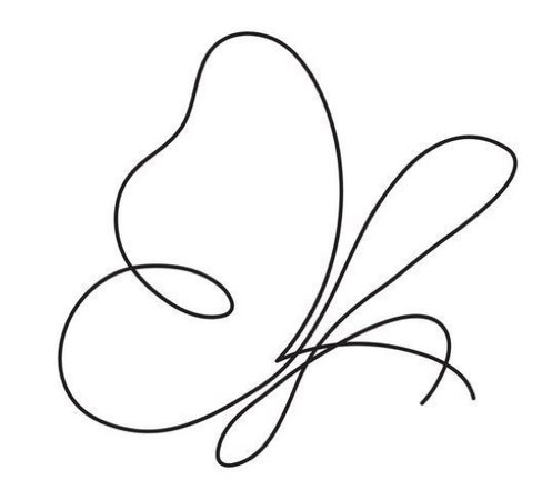 Butterfly Line Art Drawing (ANGEL REPRESENTATIVE ANIMAL)