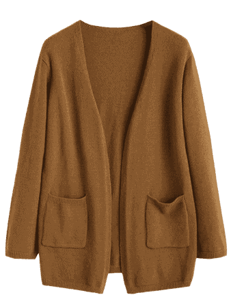 Open Front Pockets Cardigan