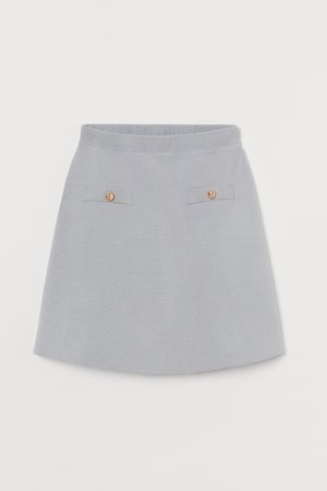 Fine-knit Skirt - Turquoise