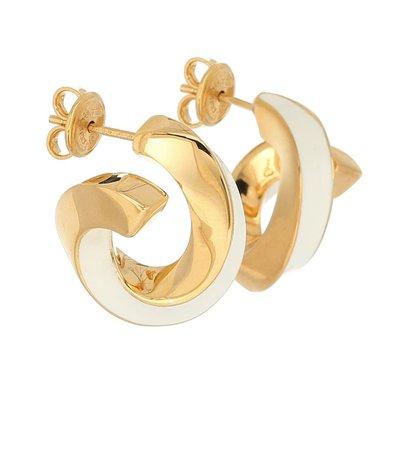 BOTTEGA VENETA 18kt gold-plated sterling silver hoop earrings