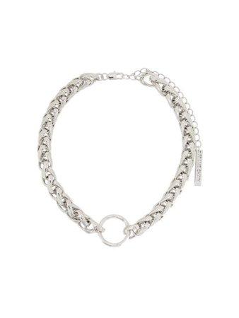 Silver Frame Chain Hooker Money chain necklace HOOKERMONKEYWG - Farfetch