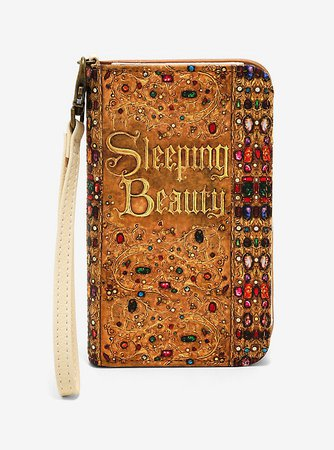 Loungefly Disney Sleeping Beauty Book Tech Wallet