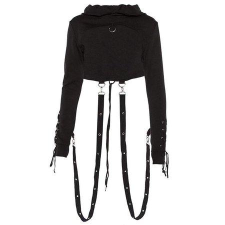 punk crop hoodie
