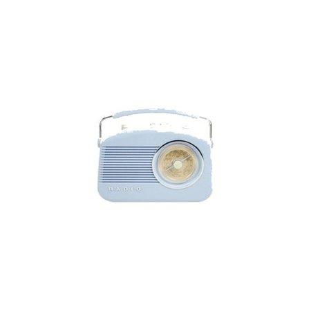 Pastel blue radio