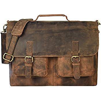 Amazon.com: KPL 18 Inch Vintage Men's Brown Handmade Leather Briefcase Best Laptop Messenger Bag Satchel: Computers & Accessories