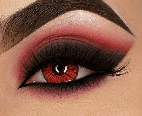 Red / Black eye makeup