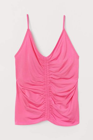 Draped Camisole Top - Pink