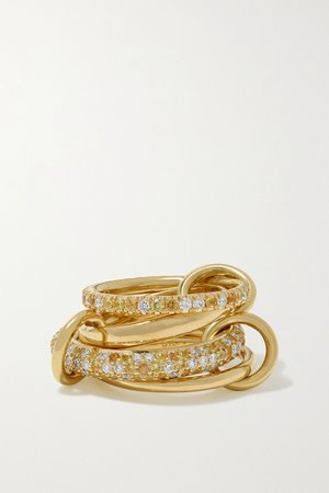 Gold 18-karat gold, sapphire and diamond rings | Spinelli Kilcollin | NET-A-PORTER