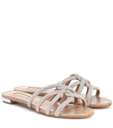 Moondust Leather Sandals   Aquazzura - Mytheresa