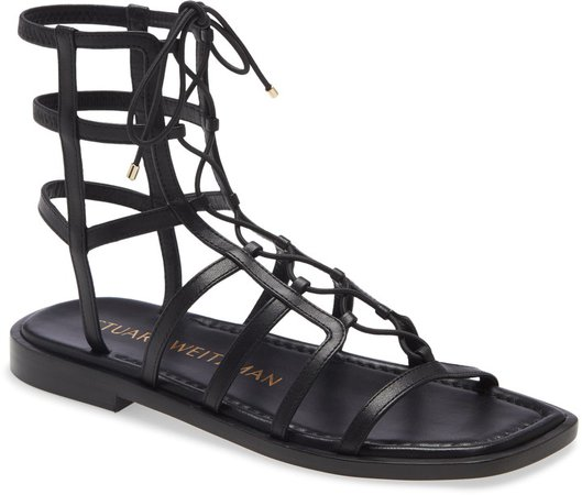 Stuart Weirzman Kora Lace-Up Gladiator Sandal
