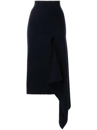 Monse Sliced Ribbed Knit Skirt - Farfetch
