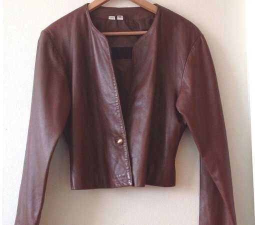MARIO ZARELLI 1990s Vintage Womens M Brown Leather Cropped Bomber Jacket | eB… Summer – Wedding Strapless Dresses Trendy 2019