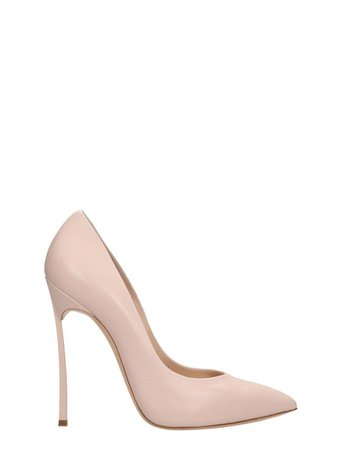 Casadei Casadei Pink Leather Pumps - rose-pink - 10876914 | italist