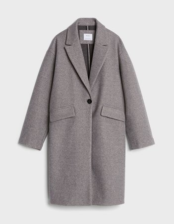 Drop shoulder coat - Jackets and Blazers - Woman | Bershka