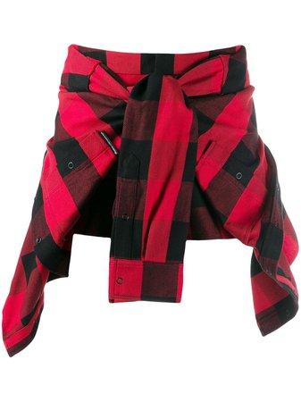 Alexander Wang Shorts Con Diseño De Camisa a Cuadros - Farfetch