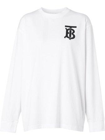 Burberry Long-Sleeved Monogram T-Shirt Ss20   Farfetch.com