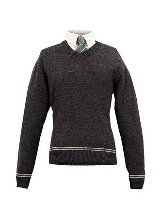 Harry Potter Sweater Slytherin with Tie - maskworld.com