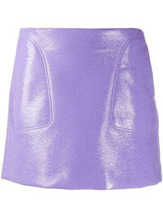 Courrèges leather-effect Mini Skirt - Farfetch