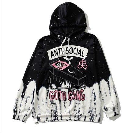 antisocial Goth gang hoodie