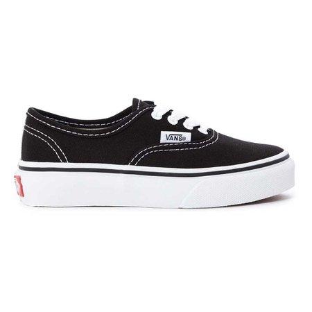 Authentic Trainers Black Vans Shoes Children