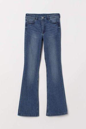 Mini Flare High Jeans - Blue
