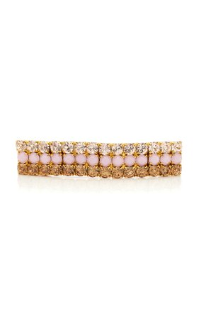 Lelet NY 14K Gold-Plated Crystal Barrette