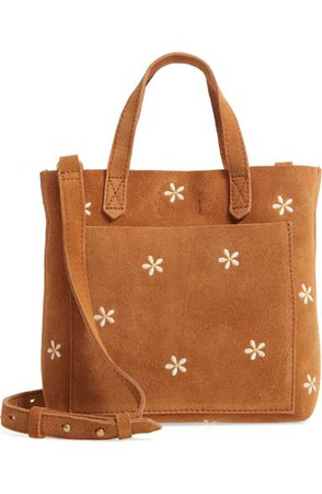Madewell The Small Transport Crossbody Daisy Embroidered Suede Edition   Nordstrom