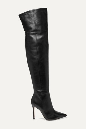 Black 105 leather over-the-knee boots | Gianvito Rossi | NET-A-PORTER
