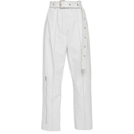 Proenza Schouler | belted patent leather pants