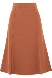 Chloé | Pleated stretch-wool midi skirt | NET-A-PORTER.COM