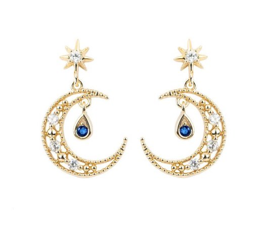 Blue Moon Earrings
