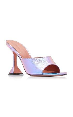 Lupita Leather Sandals Amina Muaddi