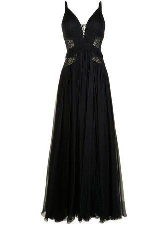 Zuhair Murad Silk lace-insert Gown - Farfetch