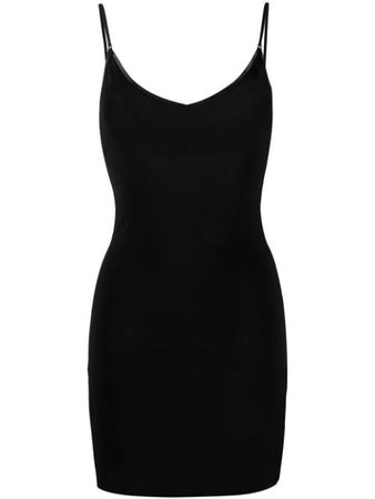 GANNI Fitted Slip Dress - Farfetch