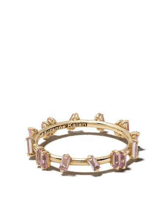 Suzanne Kalan 18Kt Yellow Gold Barb Pink Sapphire Ring | Farfetch.com