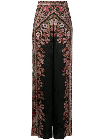 Etro floral-print wide-leg Trousers - Farfetch