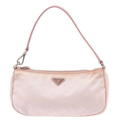 prada baby pink baguette bag