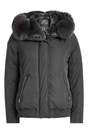 City Bomber with Down Filling and Fur-Trimmed Hood Gr. M