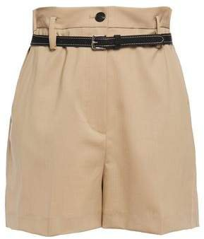 Belted Stretch-wool Shorts