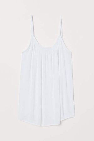 Crinkled Camisole Top - White